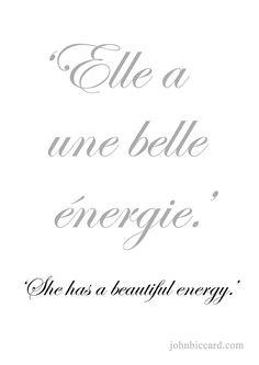 ♔ 'She has a beautiful energy.'
