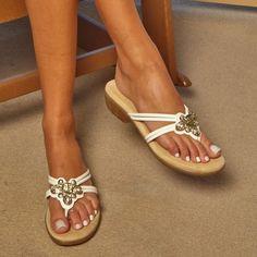 Sleek and stylish white beach sandals. Rialto Shoes Finder White Sandal Rialto https://www.rialtoshoes.com/rialto-by-white-mountain-shoes-shop-all-styles/rialto-by-white-mountain-shoes-wedges-and-sandals/rialto-shoes-finder-white-sandal.html
