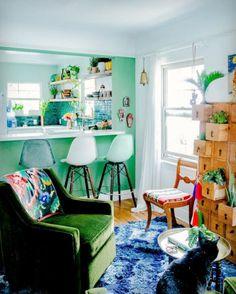 Tropische Wohnküche