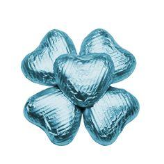 100 Choc Hearts, Turquoise, £20.95