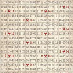my mind's eye - love me - numbers grid