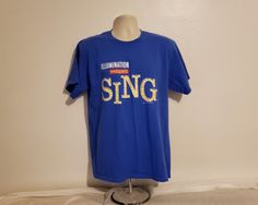 2dfc12693 Illumination Presents SING The Movie Promotional Adult Large Blue T-Shirt  Gender, Movie Tv