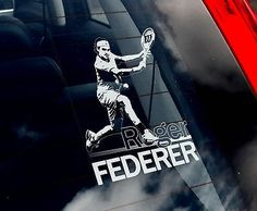 Roger Federer   Tennis Car Window Sticker   RF Switzerland Sign