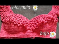 Como coloco bojos no biquine ciganinha - YouTube Crochet Bra, Crochet Clothes, Swimwear Cover Ups, Crop Top Bikini, Crochet Stitches Patterns, Swimsuits, Bikinis, Bra Tops, Sweaters For Women