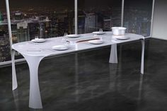 The InducTable - The InducTable is a pretty high-tech table, coming equipped with a built-in sensor system and temperature sensitive surface. The InducTable has a m. Dining Table Design, Modern Dining Table, Best Dining, Dining Tables, Luxury Interior Design, Interior Design Inspiration, Minimalist Dining Room, Balkon Design, Luxury Dining Room