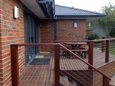 massara deck jarraj posts, handrail, steps, with stainless steel ballustrade