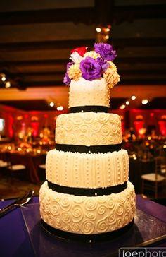 black, buttercream, fresh flowers, round, wedding cakes, white, south asian, cultural, California