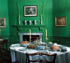 "Fine Paints of Europe recently announced its new historic color palette packaged as ""George Washington's Mount Vernon Estate of Colours. Small Living Dining, Fine Paints Of Europe, American Interior, Favorite Paint Colors, Mount Vernon, Dining Room Furniture, Dining Rooms, Dining Decor, Furniture Ideas"
