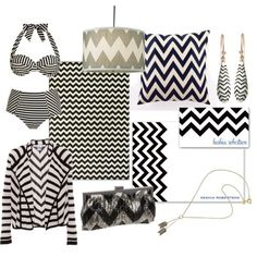 This zig zag print seen on all the products above is called a chevron print. It is a new, trending print that is seen throughout every type of textile including clothing, accessories, stationary, and even home furnishings. It comes in all colors but most the most popular seems to be that of black and white. Chelsea h