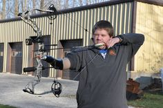 Inspirational story about Parker Savard and his custom device to help him shoot a bow