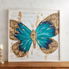 Aqua Turquoise Ombre Wings Butterfly Shape Canvas Art Whimsical G. Aqua Turquoise Ombre Wings Butterfly Shape Canvas Art Whimsical Girls Nursery Room W Butterfly Wall Decor, Butterfly Wall Art, Butterfly Painting, Butterfly Shape, 3d Wall Art, Unique Wall Art, Canvas Wall Art, Canvas Paintings, Nature Paintings