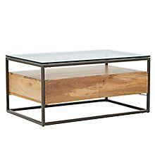 Buy west elm Industrial Storage Box Frame Coffee Table Online at johnlewis.com