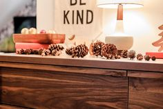 Start collecting the pine cones now! They make for excellent holiday decor! Pine Cones, Hygge, Entryway Tables, Table Decorations, Holiday Decor, Home Decor, Interior Design, Home Interior Design, Pinecone