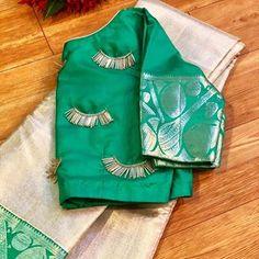 Aari Embroidery, Embroidery Dress, Embroidery Stitches, Saree Kuchu Designs, Pattu Saree Blouse Designs, Simple Blouse Designs, Bridal Blouse Designs, Maggam Works, Indian Gowns Dresses