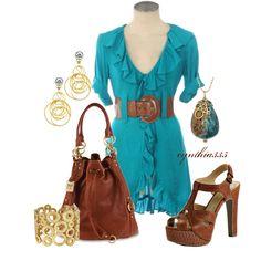 Pretty Ruffled Dress - Polyvore