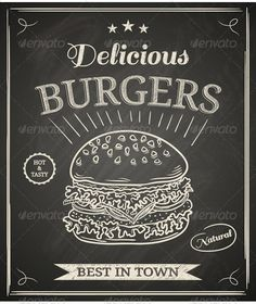 Burger Poster - Food Objects