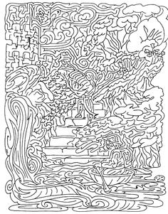 prints of paintings and drawings by Guy Ottewell, available online or at the Red Lion Gallery, Lyme Regis, Dorset List Of Activities, Craft Activities For Kids, Activity List, Maze Puzzles, Word Puzzles, Maze Drawing, Adult Coloring, Coloring Pages, Labyrinth Maze