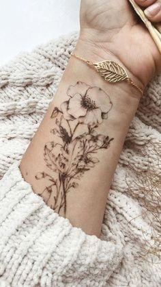 Meaningful Tattoos for Women - Tattoo - Tattoo Frauen Fake Tattoos, Forearm Tattoos, Unique Tattoos, Flower Tattoos, Body Art Tattoos, Sleeve Tattoos, Small Tattoos, Rib Tattoos, Tattoo Thigh