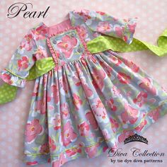 The Pearl Dress 12-18 months to 9/10 Years   YouCanMakeThis.com
