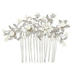 Ever Faith österreichischen Kristall Elfenbein-Farbe künstliche Perle elegant Braut Blume Blätter Haarkamm Haarschmuck Silber-Ton N03799-1 Ever Faith http://www.amazon.de/dp/B00LTLW4K8/ref=cm_sw_r_pi_dp_yQsWvb1JYH7KT