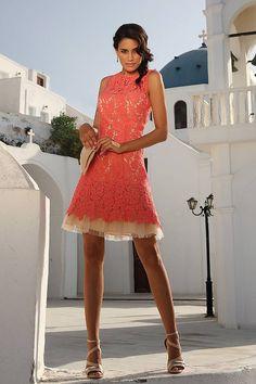 Linea Raffaelli - Gold - Short lace dress in mint