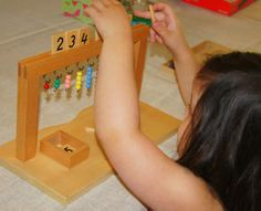 """Making Montessori Ours"": Montessori Math - Hanging Bead Stair"