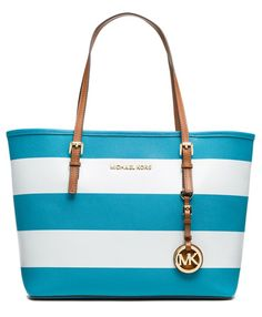 MICHAEL Michael Kors 'Jet Set - Small' Saffiano Leather Travel Tote