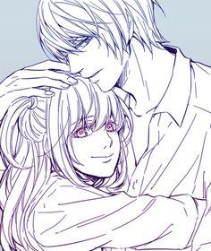 Light y Misa // Death Note Death Note Anime, Death Note デスノート, Death Note Light, Misa Amane Cosplay, Amane Misa, Manga Art, Anime Manga, Anime Art, Light And Misa