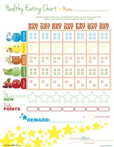 Use for H is for healthy week:  → Download the FREE Healthy Eating Chart ←