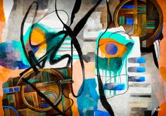 Abstract mixed media art by Gina Startup #abstract #artist