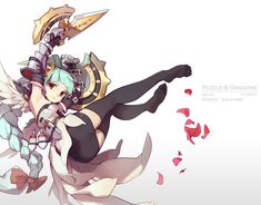 puzzle and dragons - Grace-Valkyrie by nnnnoooo007 on DeviantArt