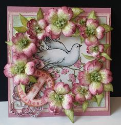 Dogwood Wreath by DJRants - Cards and Paper Crafts at Splitcoaststampers