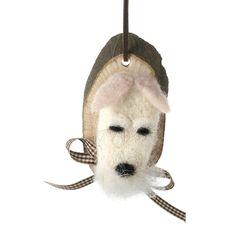 Hanging Woollen Dog