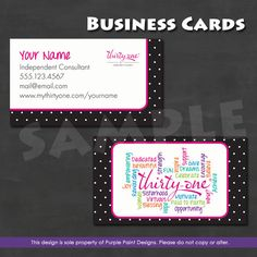 Tyra Beauty Business Card Digital Download