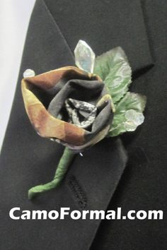 A boutonniere in camouflage! Available in all Camo Trademarked Patterns. Next Wedding, Wedding Vows, Wedding Bells, Dream Wedding, Wedding Stuff, Camo Wedding Invitations, Camo Formal, Camouflage Wedding, Big Dresses