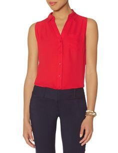 Sleeveless Ashton Blouse from THELIMITED.com