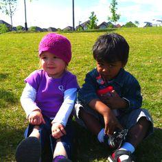 Sarah and tanush at the park