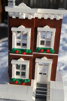 a lego house how awesome does it look Lego Christmas Village, Lego Winter Village, Lego Village, House 2, Lego House, Lego Minecraft, Minecraft Buildings, Lego Disney, Lego Website