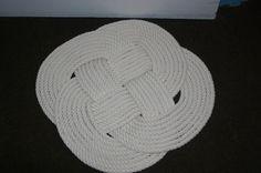 21 Round Pure Cotton Rope Rug Bathmat Soft by AlaskaRugCompany, $105.00