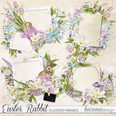 Digital Scrapbooking, Rabbit, Frames, Easter, Shop, Collection, Design, Bunny, Rabbits