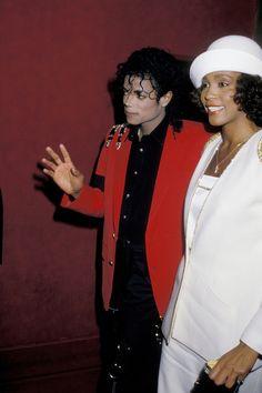 Michael Jackson and Whitney Houston on March 10, 1986.    - Cosmopolitan.com