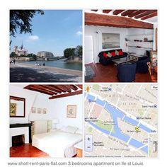 http://www.short-rent-paris-flat.com/short-term-rentals-paris-le-marais/3-bedroom-apartment/classical-3-bedroom-apartment-rental-on-ile-saint-louis-75004/ Location 3 bed apartment on Ile Saint Louis! Heart of Paris