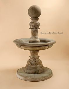 Florina Fountain - Water flows up and over this ball creating an interesting display.
