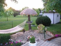 spring is coming can t wait to hit my hammock in my own backyard beach, outdoor living, My little patch of Heaven