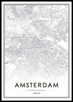 Poster mit Amsterdam-Motiv