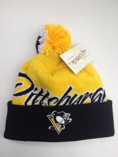 c089f9a15ef121 Mitchell & Ness cuffed pom Knit beanie National City NHL Pittsburgh  Penguins by Mitchell & Ness. $22.50