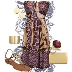 purple and gold, created by amerg on Polyvore mstee1968