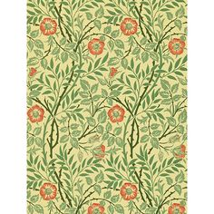 Buy Morris & Co Sweet Briar Wallpaper | John Lewis