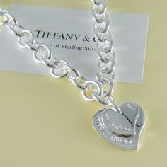 Tiffany & Co Exquisite Tiffany two Heart Pendant Necklace