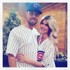 Celebration dinner for #myman got me like ------------------ (Chicago Cub's Ben Zobrist and his wife Julianna. Power couple!).